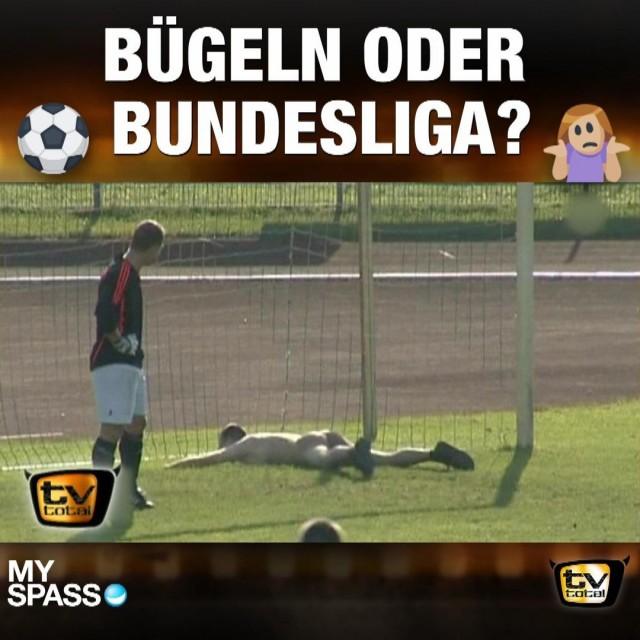 Bügeln oder Bundesliga