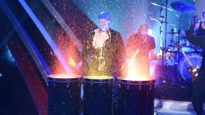 Action mit der BLUE MAN GROUP