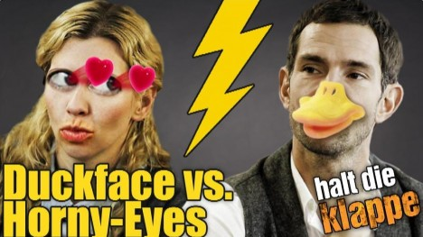 Duckface vs. Horny-Eyes