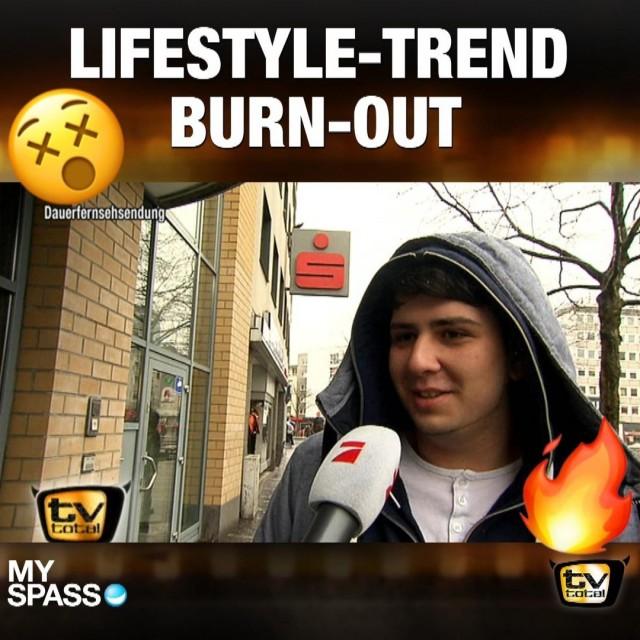 Umfrage: Burnout immer beliebter!