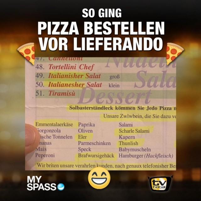 Stefan bestellt Pizza