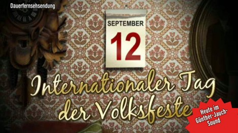 Kalenderblatt - Internationaler Tag der Volksfeste