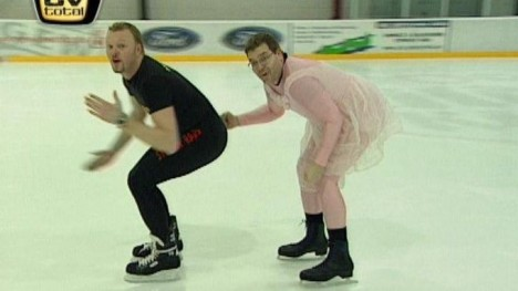 Raab und Elton on Ice