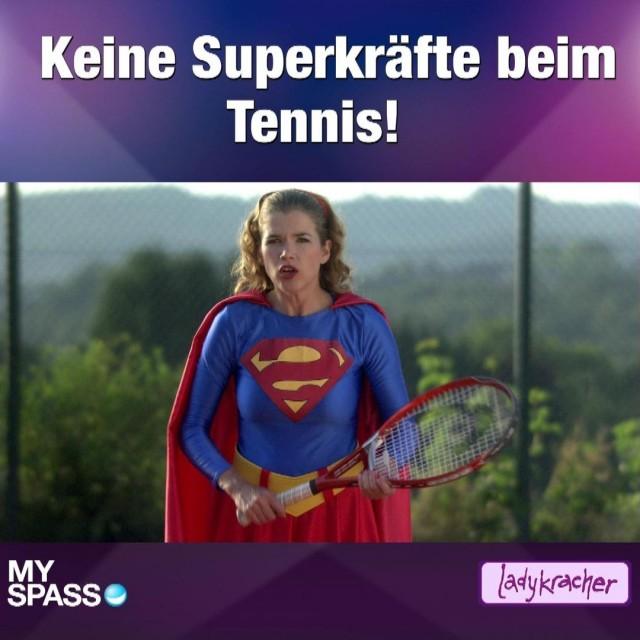 Keine Superkräfte beim Tennis