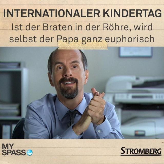 Internationaler Kindertag Ist der Braten in der Röhre, wird selbst der Papa ganz euphorisch
