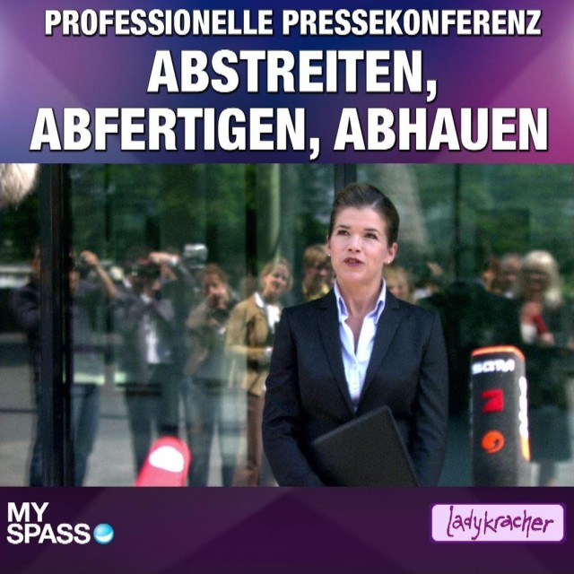 Professionelle Pressekonferenz